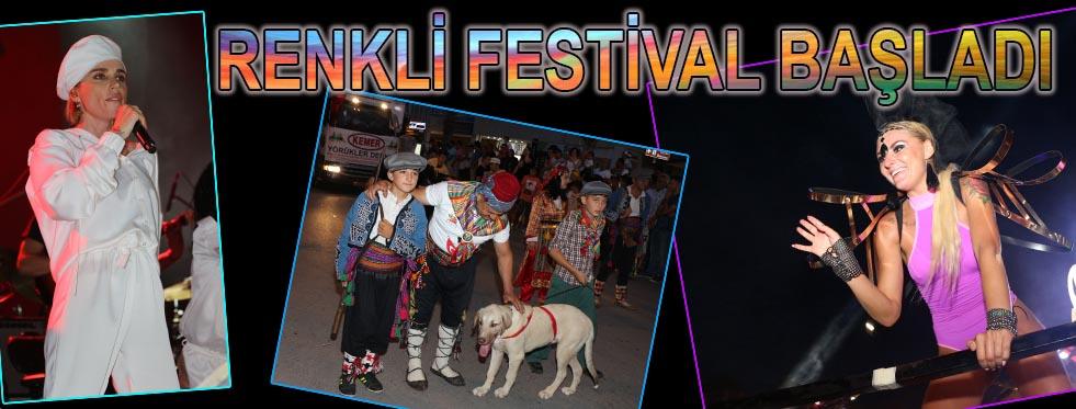 Renkli festival başladı