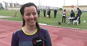 Antalya'da hızlı postacıları milli takım için yarıştı