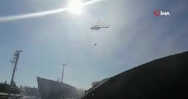 Antalya'da soğuk hava deposu yangını