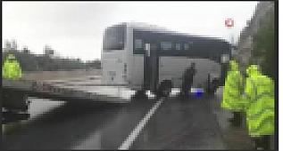 Antalya'da servis minibüsü kazası: 13 yaralı