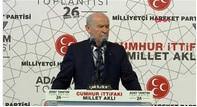 MHP Genel Başkanı Bahçeli Seçim Beyannamesini açıkladı