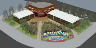 Antalya'da plajda sinema keyfi
