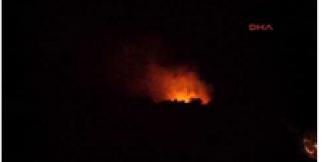 Finike'de makilik yangını