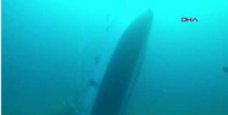 Ayvalık'ta batan teknenin sualtı kamera görüntüleri