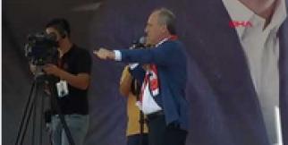 Cumhurbaşkanı adayı Muharrem İnce Kahramanmaraş'ta konuştu