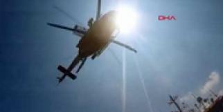 Sahil Güvenlik ekipleri yaralı mürettebatı helikopter ile tahliye etti